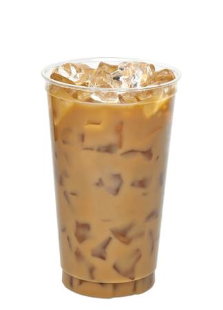 Ijskoffie of afhaalmaaltijd kopje koffie latte