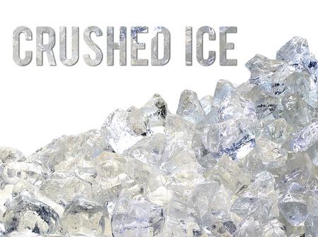 ice crushed: crushed ice pile on white background Stockfoto