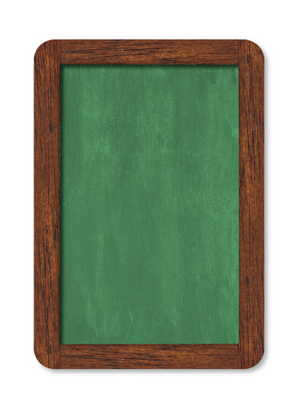 Green horizontal chalkboard with wooden frame