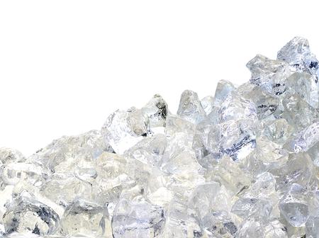 Ice pile on white background