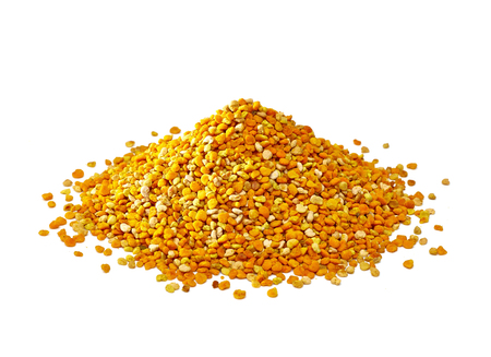 Bee pollen on a white background Stock Photo