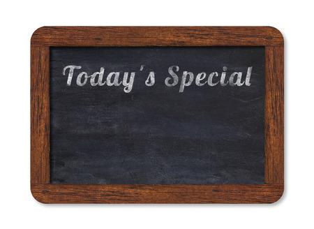 wornout: Black chalkboard with worn-out vintage typing Todays Special