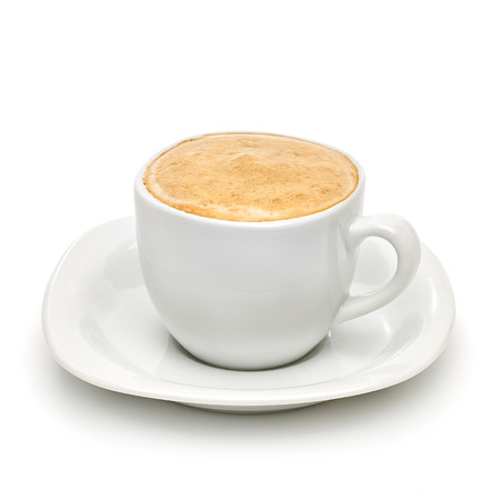 Cappuccino on white background. Stock Photo