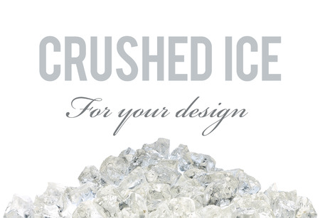 crushed ice: Crushed ice pile on white background with clipping path Stock Photo