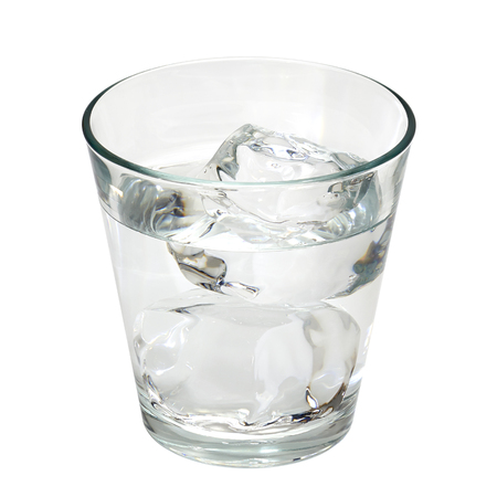 white water: Gun or tequila with ice in glass