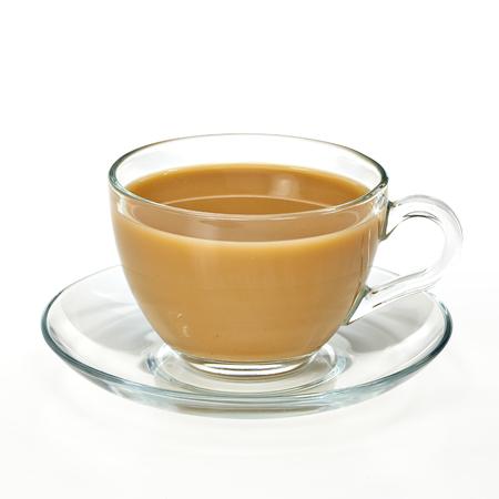tarik: Coffee with milk in glass cup