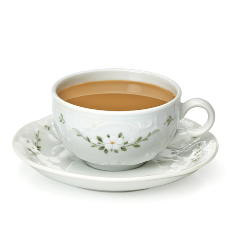 café au lait en tasse en porcelaine