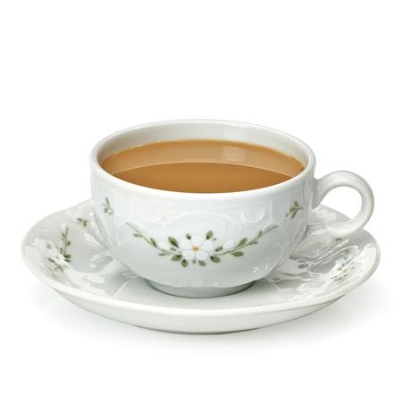 Koffiemelk in porseleinen kopje