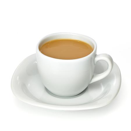 Milk tea in porcelain cup Banque d'images