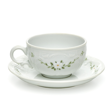 Porcelain tea cup with clipping path