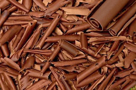 shavings: Chocolate shavings Background Stock Photo