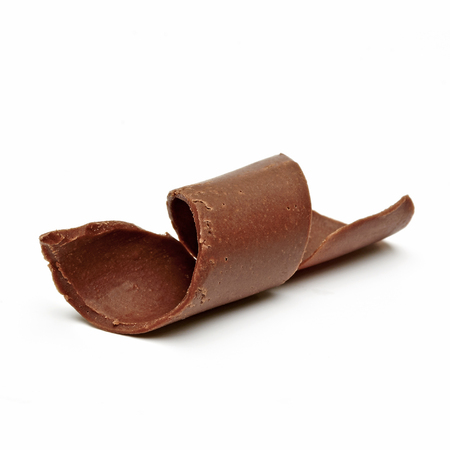 spall: Chocolate Curl on white background