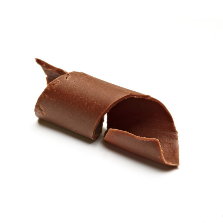excelsior: Chocolate Curl on white background