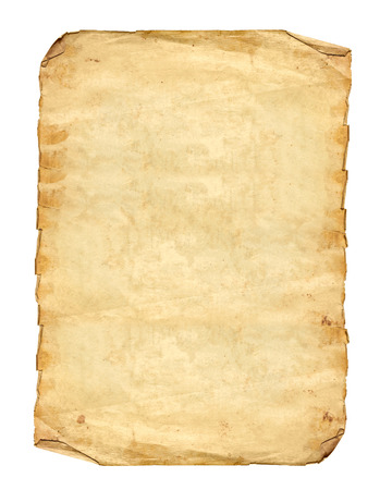 vintage background paper: Old Paper on white background Stock Photo