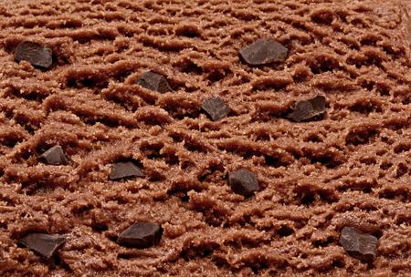 chocolate ice cream: Chocolate chips, ice cream detail
