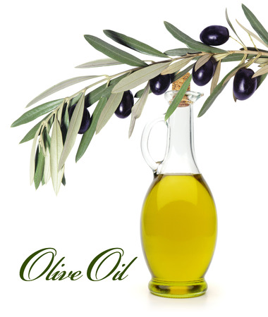 healthiness: Olive oil with olive branch