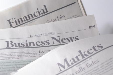 gazette: Economy newspaper in shallow depth of field