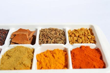 indian spices: Indiase kruiden en Masala Stockfoto