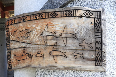 Flying Fish Carving