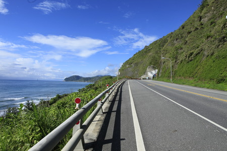 Road beside the Pacific Ocean Stock Photo