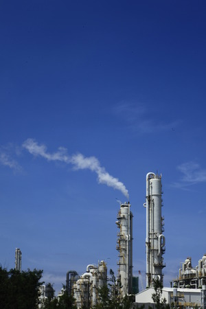 naphtha: petrochemical industry Stock Photo