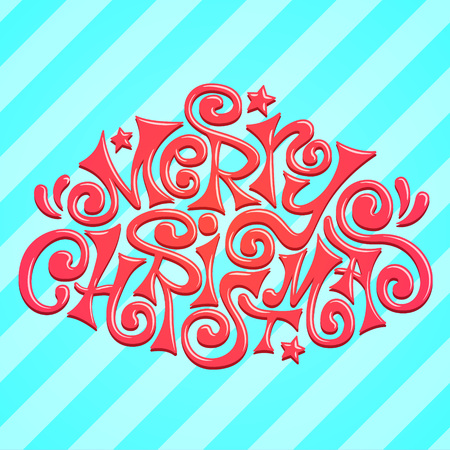 freehand tradition: Cool Merry Christmas lettering - Xmas theme for your designs