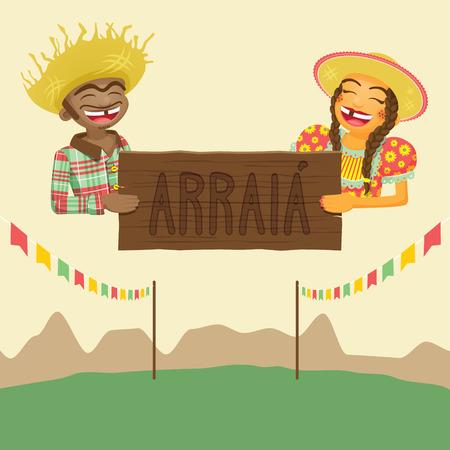 hillbilly: Brazilian June Party Theme Design Elements
