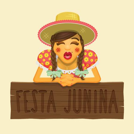 brazilian: Brazilian June Party Theme Design Element