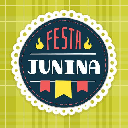 hick: June Festival, brazilian june fest badge Illustration