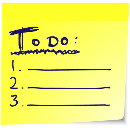 sticky note: To do list on yellow sticky note paper