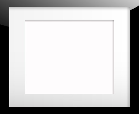 Black picture frame with passe-partout Illustration