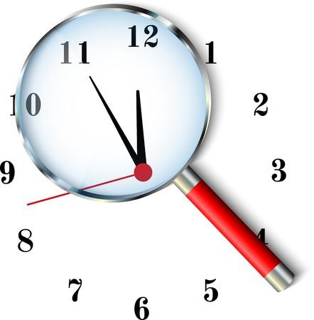 Five to twelve clock Vector