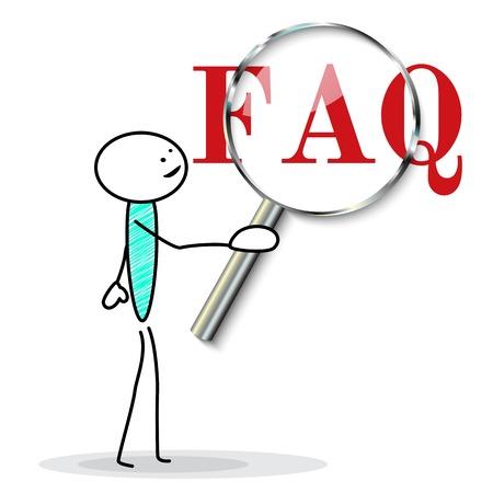 よく寄せられる質問ベクトル図  イラスト・ベクター素材