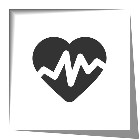 такса: Heart Rate Pulse icon with cut out shadow effect