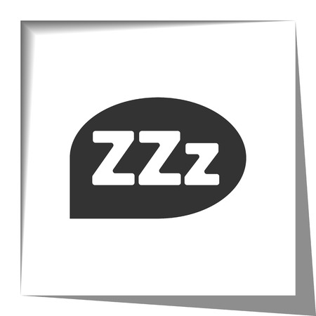 sleep: Sleep icon with cut out shadow effect