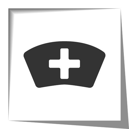 nursing uniforms: Nurse icon with cut out shadow effect