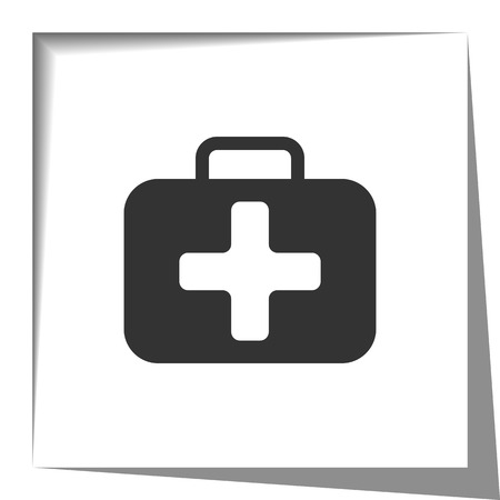 shadow effect: First Aid Kit icon with cut out shadow effect Illustration