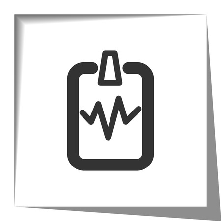shadow effect: Cardiogram Clipboard icon with cut out shadow effect