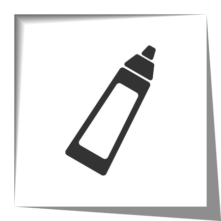 shadow effect: Baby Bottle icon with cut out shadow effect