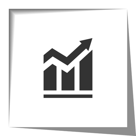 graphic chart: Positive arrow and bar graph