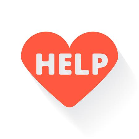 cardioverter: Orange Defibrillator symbol with drop shadow on white background