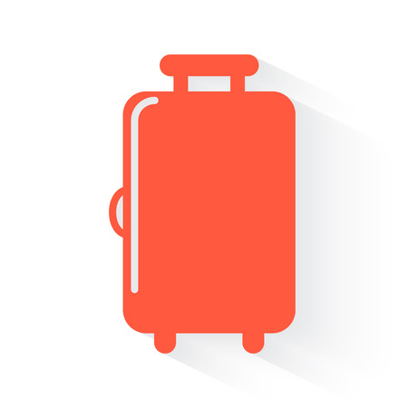 trolley case: Luggage symbol in orange withdrop shadow on white