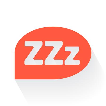 drop shadow: Orange Sleep symbol with drop shadow on white background