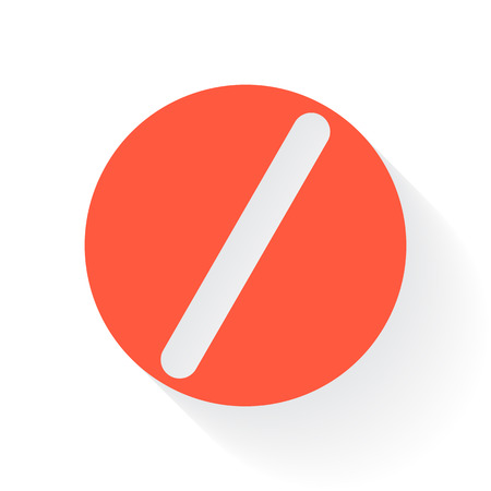 heartache: Orange Pill symbol with drop shadow on white background