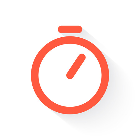 cut the competition: timer in orange with drop shadow on white Illustration