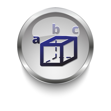 trigonometry: Trigonometry web button Illustration