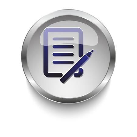 Notes web button 向量圖像