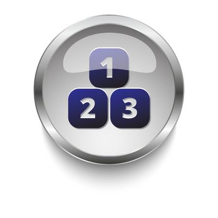 123 blocks web button 向量圖像