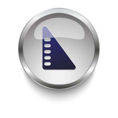 set square: Blue set square book glossy glass and chrome web button
