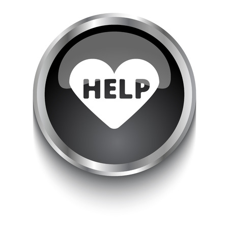 cardioverter: White Aed  symbol on black glossy web button